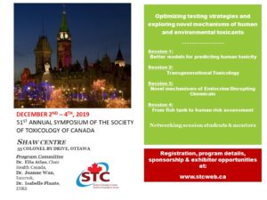 51st Annual Symposium of the Society of Toxicology of Canada @ SHAW CENTRE
